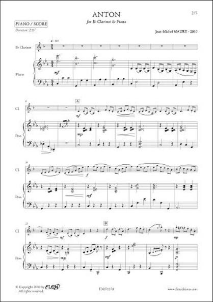Anton - J.-M. MAURY - Clarinette