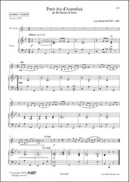 Petit Air d'Autrefois - J.-M. MAURY - Clarinette