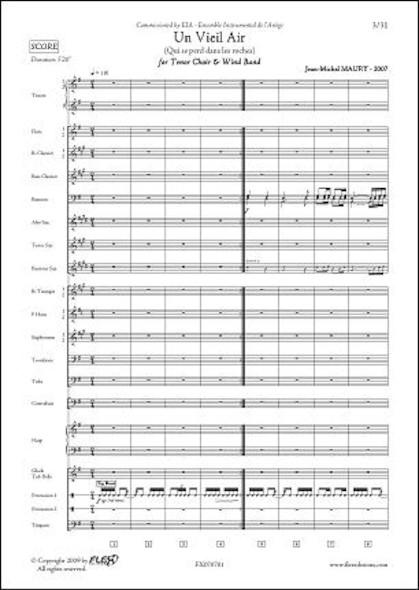 Un Vieil Air  - J.-M. MAURY - Choeur de Ténors & Orchestre d'Harmonie