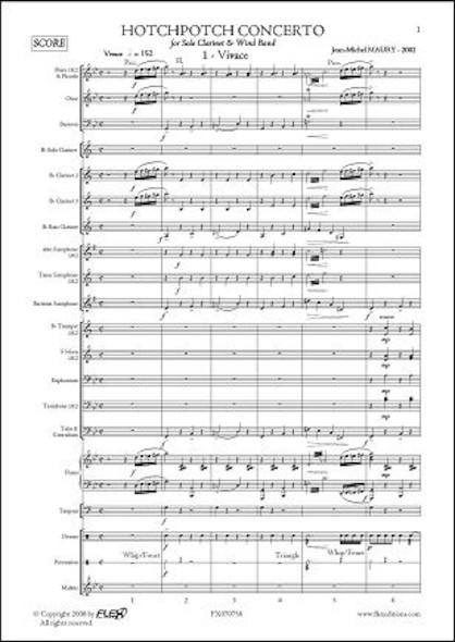 Hotchpotch Concerto - J.-M. MAURY - Clarinette Solo & Orchestre d'Harmonie