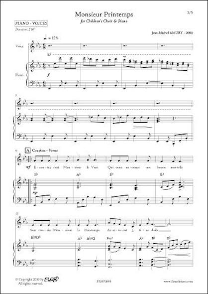 Monsieur Printemps - J.-M. MAURY - Chorale d'Enfants et Piano