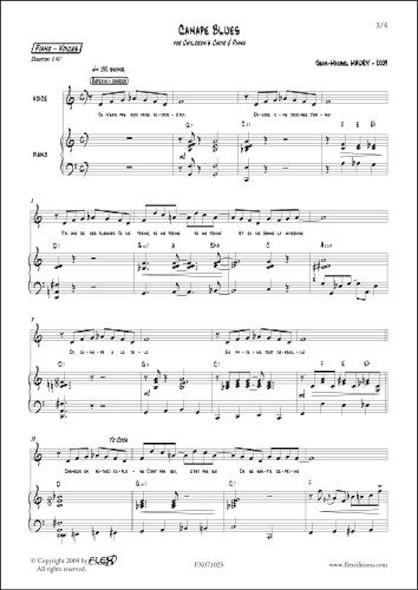 Canapé Blues - J.-M. MAURY - Chorale d'Enfants et Piano