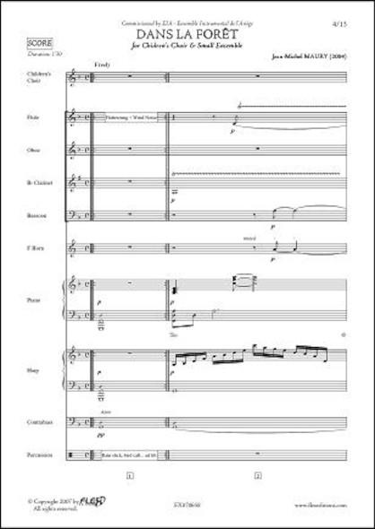 Dans la Forêt - J.-M. MAURY - Chorale d'Enfants et Petit Ensemble