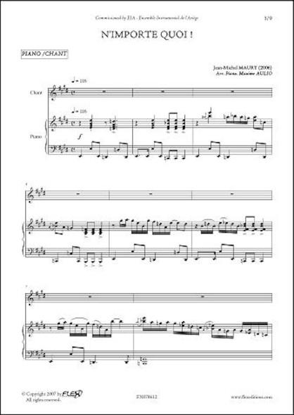 N'Importe Quoi ! - J.-M. MAURY - Chorale d'Enfants et Piano
