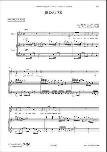 Je Danse - J.-M. MAURY - Chorale d'Enfants et Piano