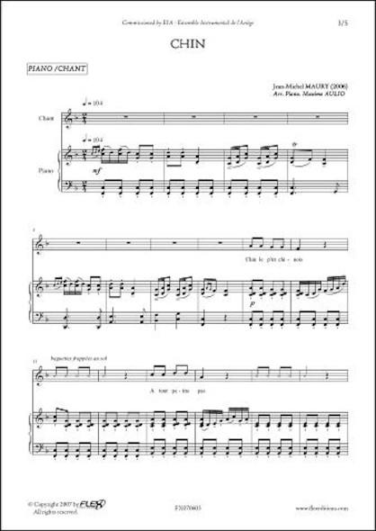 Chin - J.-M. MAURY - Chorale d'Enfants et Piano