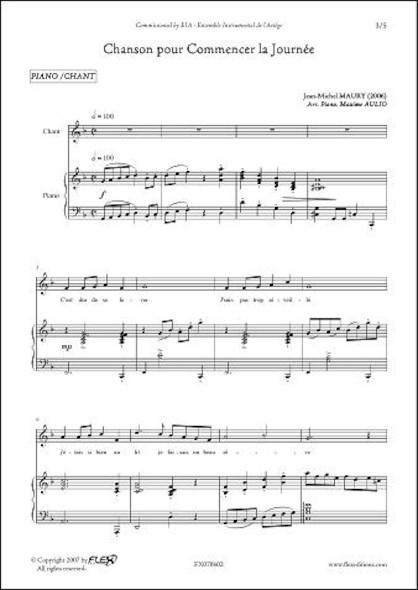 Chanson pour Commencer la Journée - J.-M. MAURY - Chorale d'Enfants et Piano