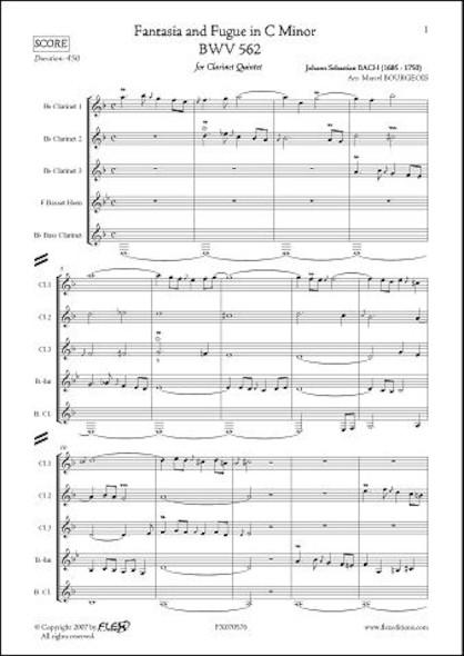Fantaisie et Fugue en Do Mineur - BWV 562 - J.S. BACH - Quintette de Clarinettes