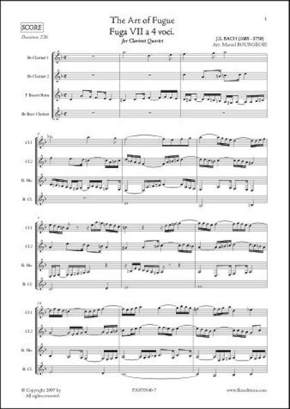 L'Art de la Fugue - Fuga VII - J.S. BACH - Quatuor de Clarinettes
