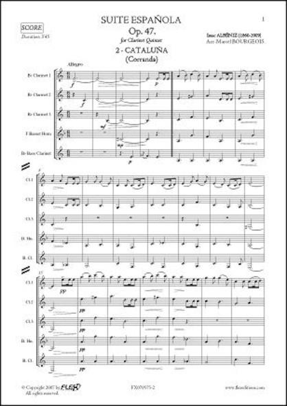 Suite Española Op. 47 - No. 2. CATALUÑA - I. ALBENIZ - Quintette de Clarinettes