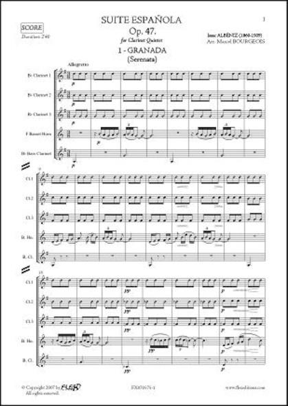 Suite Española Op. 47 - No. 1. GRANADA - I. ALBENIZ - Quintette de Clarinettes