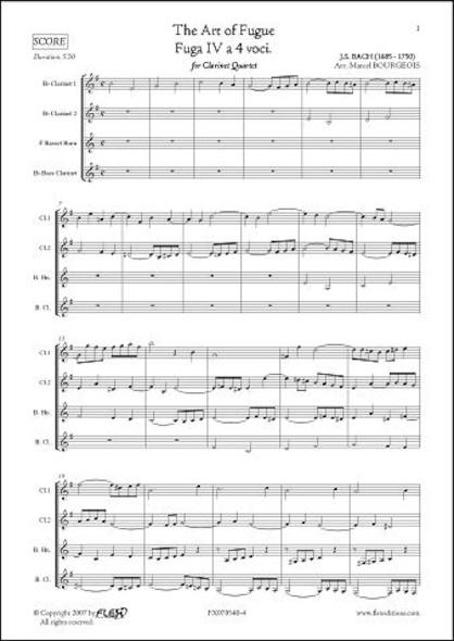 L'Art de la Fugue - Fuga IV - J.S. BACH - Quatuor de Clarinettes