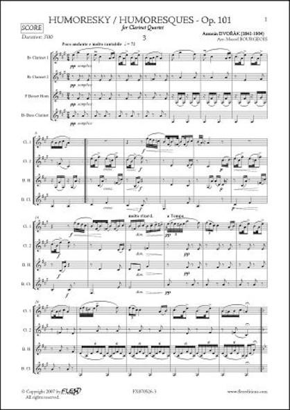 Humoresque No. 3 - A. DVORAK - Quatuor de Clarinettes