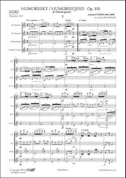 Humoresque No. 2 - A. DVORAK - Quatuor de Clarinettes
