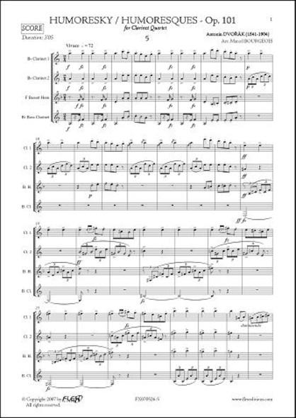 Humoresque No. 5 - A. DVORAK - Quatuor de Clarinettes
