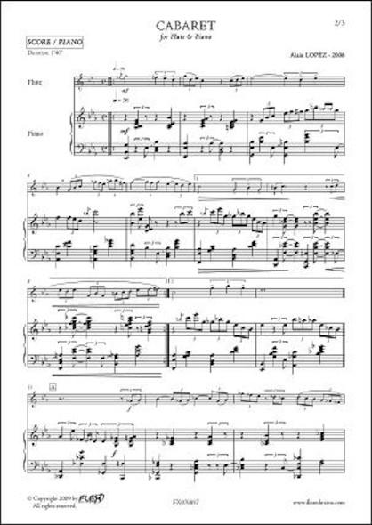 Cabaret - A. LOPEZ - Flûte & Piano