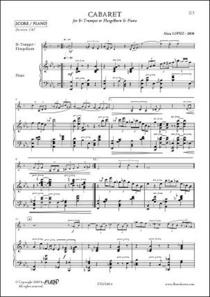 Cabaret - A. LOPEZ - Trompette & Piano