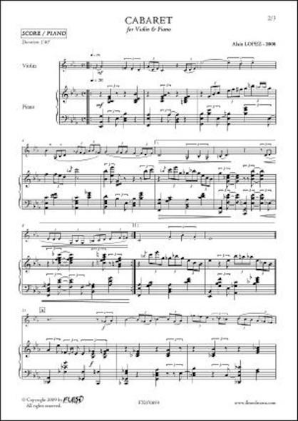 Cabaret - A. LOPEZ - Violon & Piano