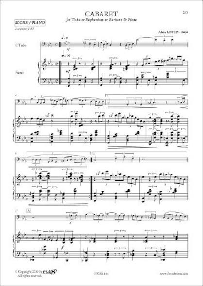 Cabaret - A. LOPEZ - Saxhorn/Euphonium/Tuba & Piano