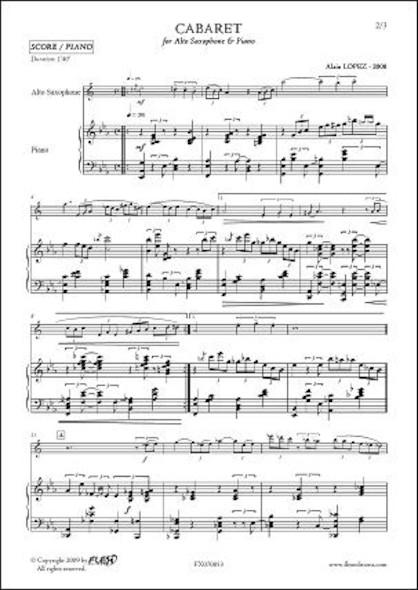 Cabaret - A. LOPEZ - Saxophone Alto & Piano