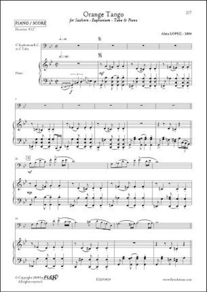 Orange Tango - A. LOPEZ - Saxhorn/Euphonium/Tuba & Piano