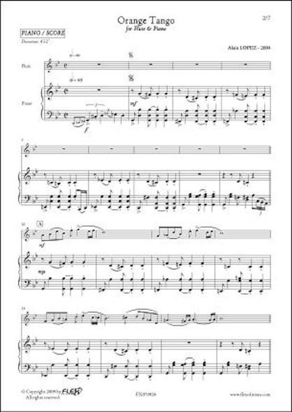 Orange Tango - A. LOPEZ - Flûte & Piano
