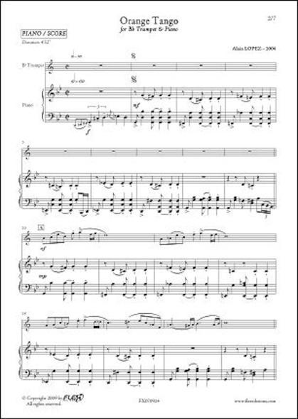 Orange Tango - A. LOPEZ - Trompette & Piano