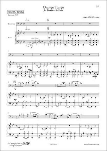Orange Tango - A. LOPEZ - Trombone & Piano