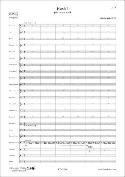 Flash - N. JARRIGE - Orchestre d'Harmonie