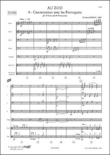 Au ZOO - No. 4 - Conversation avec les Perroquets - N. JARRIGE - Orchestre d'Harmonie