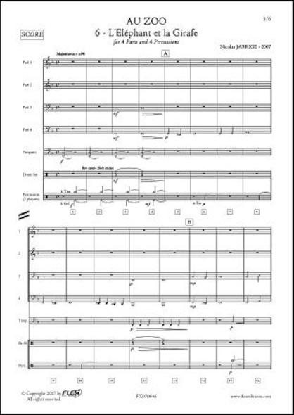Au ZOO - No. 6 - L'Eléphant et la Girafe - N. JARRIGE - Orchestre d'Harmonie