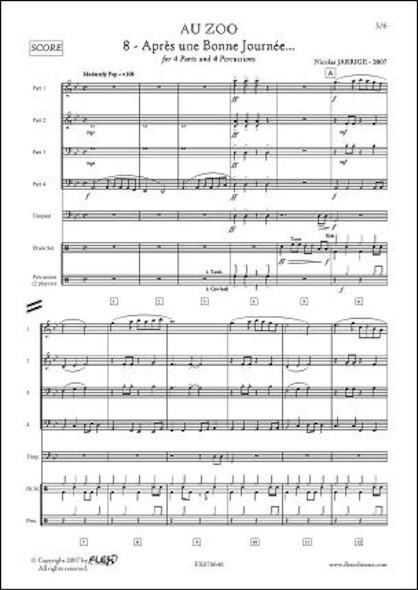 Au ZOO - No. 8 - Après une Bonne Journée - N. JARRIGE - Orchestre d'Harmonie