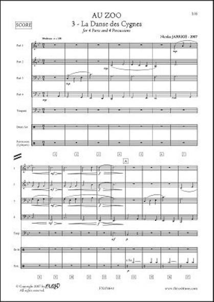Au ZOO - No. 3 - La Danse des Cygnes - N. JARRIGE - Orchestre d'Harmonie