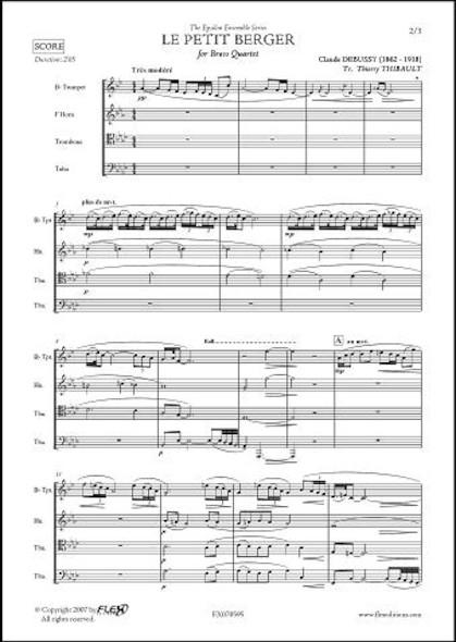 Le Petit Berger - C. DEBUSSY - Quatuor de Cuivres