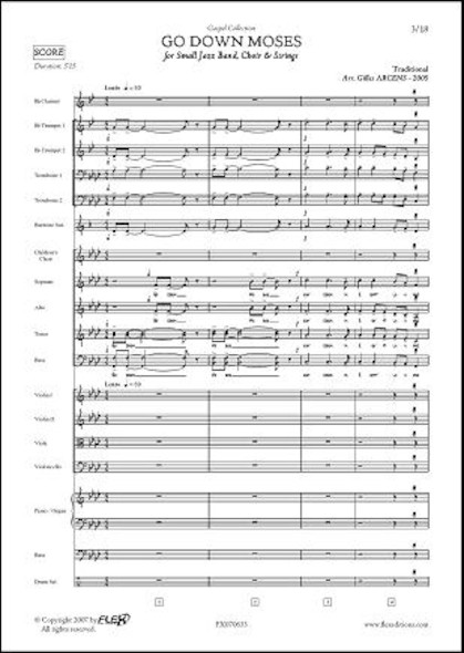 Go Down Moses - G. ARCENS - Jazz Band, Chorale d'Enfant, Chanteurs et Cordes