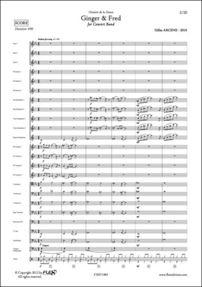 Ginger & Fred - G. ARCENS - Orchestre d'Harmonie