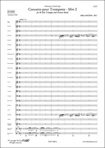Concerto pour Trompette - Mvt 2 - G. ARCENS - Orchestre d'Harmonie & Trompette Solo
