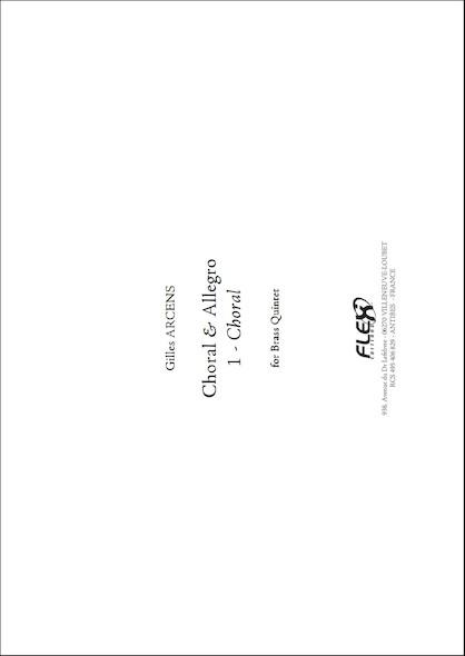 Choral & Allegro - 1 - Choral - G. ARCENS - Quintette de Cuivres