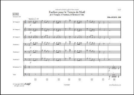 Fanfare pour le Temps de Noël - G. ARCENS - Octuor de Cuivres