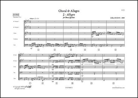Choral & Allegro - 2 - Allegro - G. ARCENS - Quintette de Cuivres