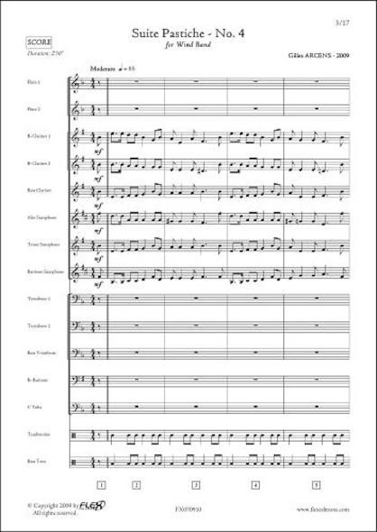 Suite Pastiche - No. 4 - G. ARCENS - Orchestre d'Harmonie