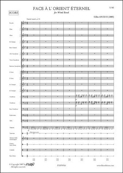 Face à l'Orient Eternel - G. ARCENS - Orchestre d'Harmonie