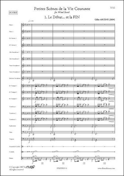 Le Début... et la FIN - G. ARCENS - Orchestre d'Harmonie