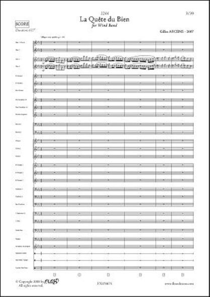 1244 - La Quête du Bien - G. ARCENS - Orchestre d'Harmonie