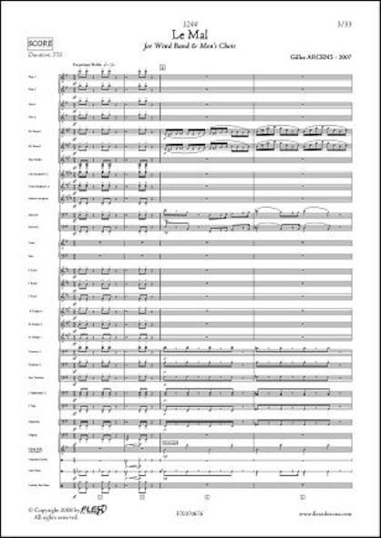 1244 - Le Mal - G. ARCENS - Orchestre d'Harmonie et Choeur d'Hommes