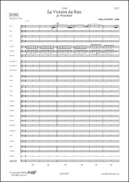 1244 - La Victoire du Bien - G. ARCENS - Orchestre d'Harmonie