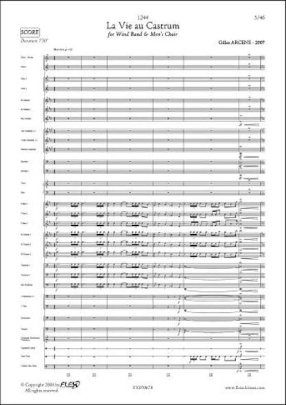 1244 - La Vie au Castrum - G. ARCENS - Orchestre d'Harmonie et Choeur d'Hommes
