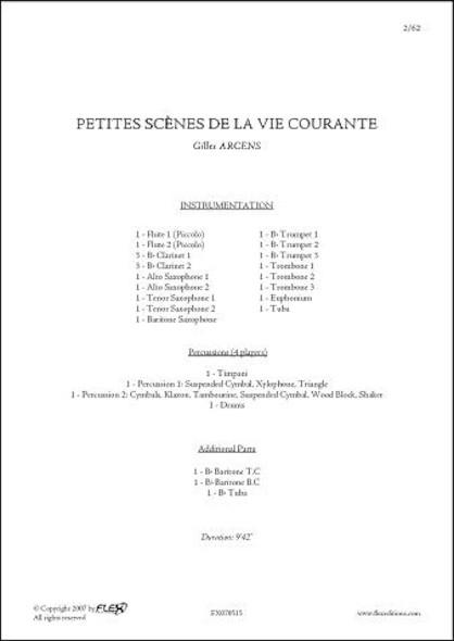 Petites Scènes de la Vie Courante - G. ARCENS - Orchestre d'Harmonie