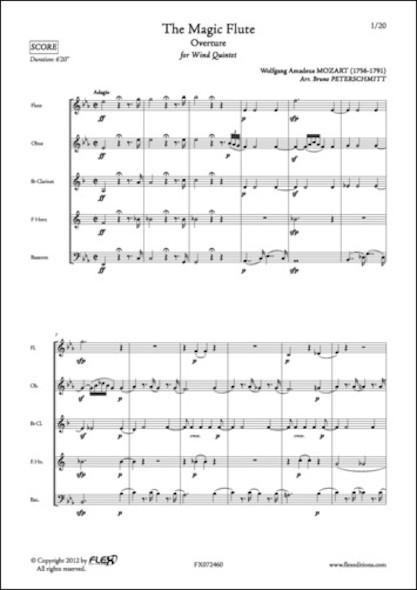 La Flûte Enchantée - Ouverture - W. A. MOZART - Quintette à Vent