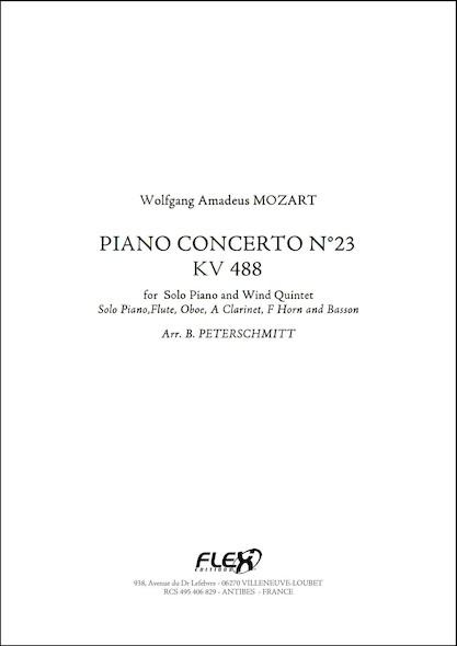 Concerto pour Piano No. 23 - KV 488 - W.A. MOZART - Quintette à Vent et Piano